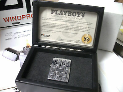 Zippo ARMOR Lighter Playboy 50th Anniversary LIMITED to 7500 Pieces New RARE
