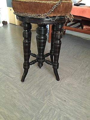 Victorian Ebonised Adjustable Piano Stool