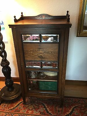 Antique music/ china cabinet