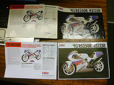Honda Racing RS 250R/Rs 125 R Motorcycle brochure 1993