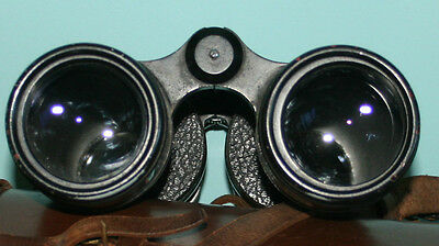 VINTAGE  ROSSof  LONDON STEPSUN 12 X 50 BINOCULARS AND LEATHER CARRYING CASE