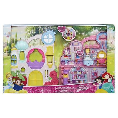 Play 'n Carry Castle inc Cinderella Snap Ins Disney Princess Little Kingdom 4yr+