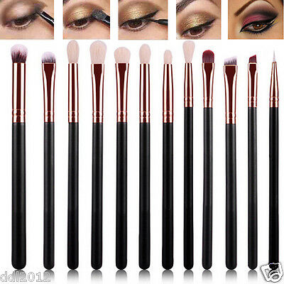 12PCS Professional Eye Shadow Brushes Set Blending Pencil Makeup Brushes Set New