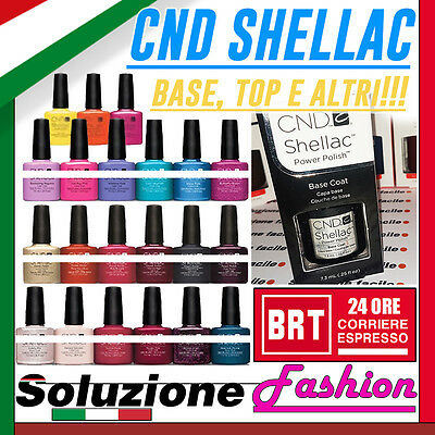 SMALTO CND SHELLAC GEL SEMIPERMANENTE 7.3ml +COLORI (BASE,TOP COAT, ETC A SCELTA
