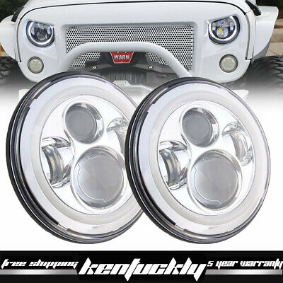 7inch LED Projector Headlights Replacement Freightliner Century Pre 2005 Lights