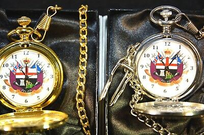 APPRENTICE BOYS OF DERRY POCKET WATCH GIFT SILVER/GOLD WITH or WITHOUT ENGRAVING