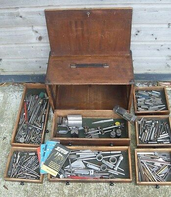 Moore & Wright 7 Drawer Engineers Tool Chest / Cabinet - With Quantity Of Tools