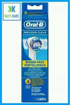 Braun Oral-B PRECISION CLEAN Toothbrush Replacement Heads 4 Pack - FAST FREE P&P
