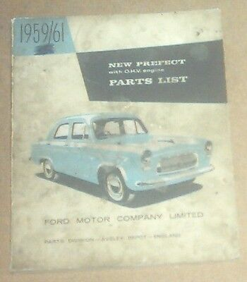 Ford Prefect 1959 to 1961 Parts Catalogue