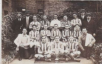English Football Real Photograph. Team Posing with trophy.  c 1910