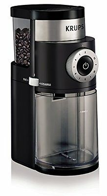 KRUPS GX5000 Professional Electric Coffee Burr Grinder with Grind Size and Cup