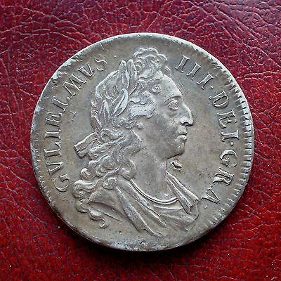 William III 1695 silver crown