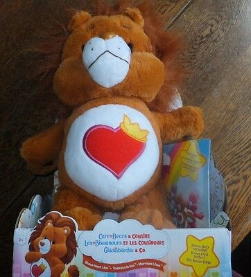 Care Bears - Brave Heart Lion with DVD - Childs Toy - Suitable Ages 2+