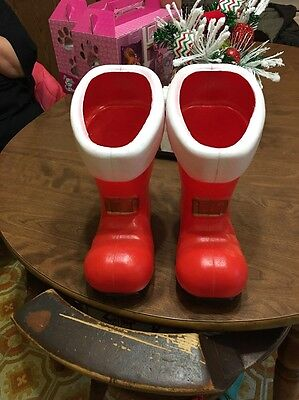 "HTF DON FEATHERSTONE  Blow Mold SANTA BOOTS 12"" Union Products"