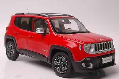 Jeep Renegade car model in scale 1:18 red