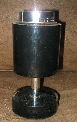 Mid Century Metal & Lucite Electric Spark~ Scripto Table Lighter Black WORKS