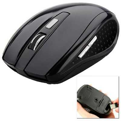 Mouse Senza Fili Ottico per Notebook PC Computer Senza Fili Wireles 1600DPI Nero