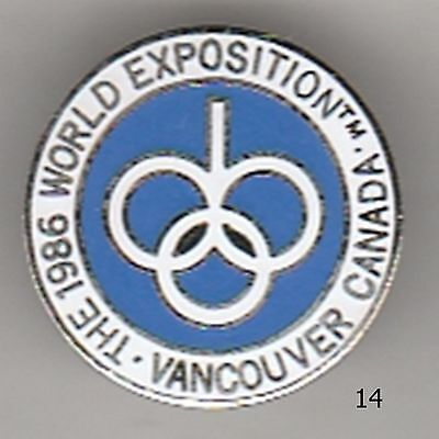 Vancouver Canada 1986 World Exposition pin