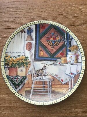 Knowles Table Trouble Kittens Plate,Hannah Hollister 8th Cozy Country