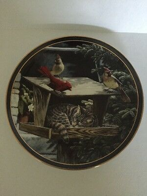 "1994 Nosy Neighbors "" Cat Nap"" Collector Plate By Persis Weird"