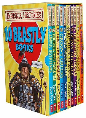 Horrible Histories Box Set Collection - 10 Beastly Books - RRP: £59.90