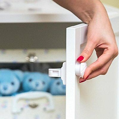 Nurturelle 8+2 Magnetic Locks For Cabinets For Child Safety. Strong, Invisible