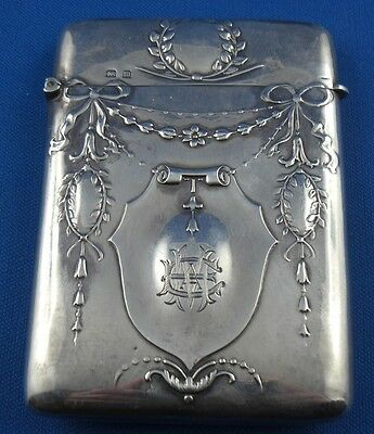 Etui Card Case J.Gloster Ltd Birmingham 1910 Sterling Silber Silver RAR