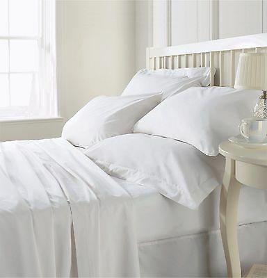 100% Egyptian Cotton 500 Thread Count Luxury Fitted Sheet Extra Deep White