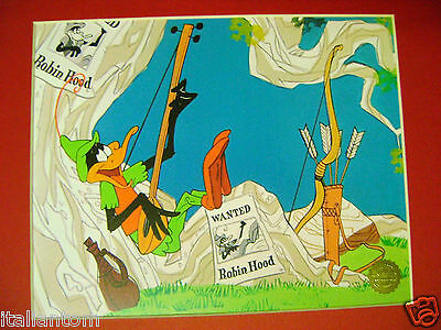 Matted Daffy Duck Dodgers Robin Hood Warner Brothers Cel Animation Art Cell