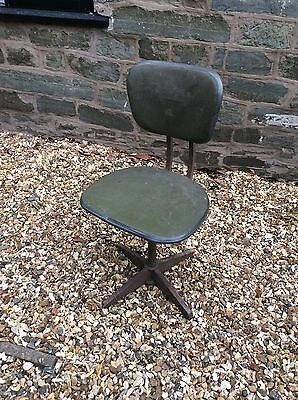 Evertaut Industrial Vintage Antique Office Swivel Chair Spare Or Repairs