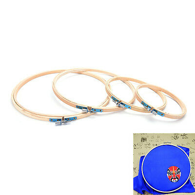 Simple Wooden Cross Stitch Machine Embroidery Hoop Ring Bamboo Sewing 13-26CM
