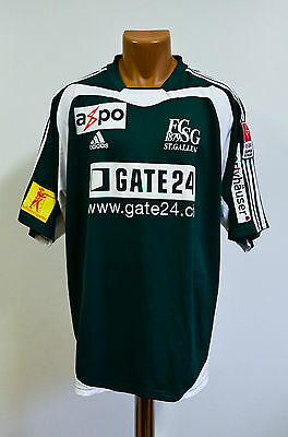St. Gallen Switzerland 2004/2005 Match Worn Issue Home Football Shirt Adidas #25