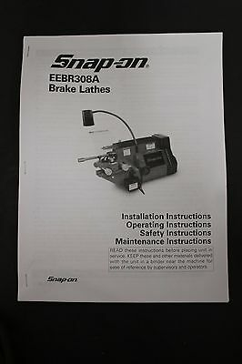 Snap-On EEBR308A Disc & Drum Brake Lathe Operating Manual