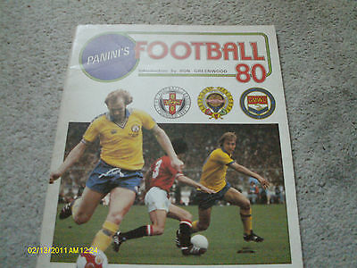 Panini 1980 English First Division Football Sticker Album EMPTY