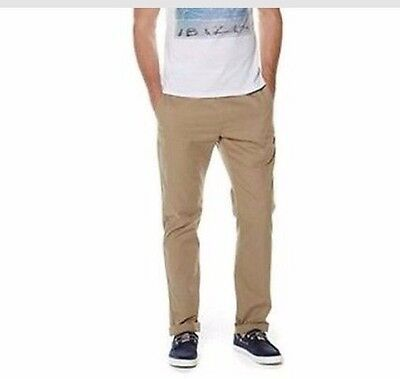New Mens Boys Thomas Gee Formal Chinos Trousers Tan Size 30R