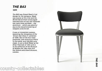 Ernest Race x6 cast aluminium BA3 chairs iconic 1945 design WW2 Vintage ORIGINAL