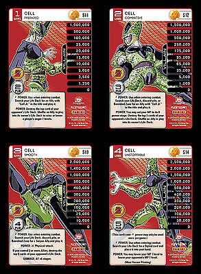Cell Lv1-4 Set 7 Main Personality Lot MP Villain Panini Awakening DBZ CCG