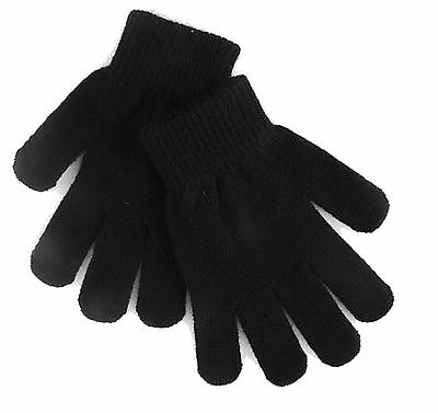 12 Pairs Kids Black Magic Gloves One size