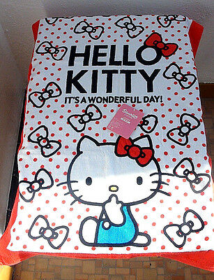 """New Sanrio License Hello Kitty Bath Towel with Bows from Japan 23"""" x 46"""""""