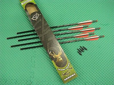"""Barnett 20"""" Headhunter Carbon Crossbow Arrows with Field Points 5 Pack 16075"""