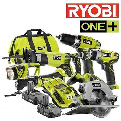 Ryobi ZRP884 18V One Plus Lithium-Ion Ultimate 10 Pc Combo Kit Saw Drill Impact