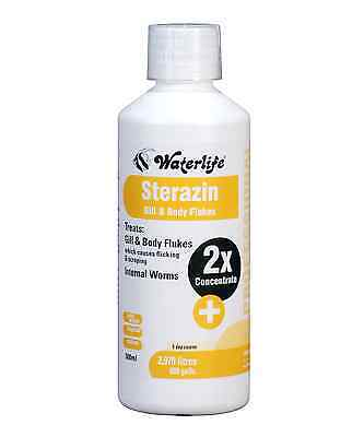 Waterlife Sterazin Treats Gill and Body Flukes  & Parasite Cure 500ml Bottle • EUR 19,68