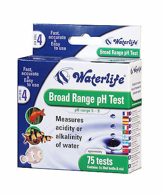 Waterlife Aquarium Broad Range PH Test Kit 75 Test Pack For All Aquarium Use