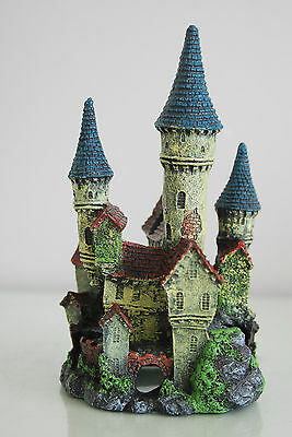 Stunning Detailed Aquarium Haunted Castle Decoration Small 10 x 10 x 20 cms