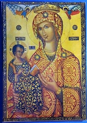 Cyprus postcard: The complete Holy Miracle Icon of Panayia Trooditissa Monastery