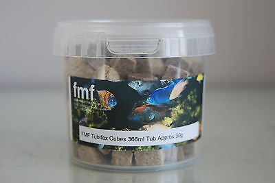 Freeze Dried Aquarium Tubifex Cubes Suitable For All Fish 366ml Tub Approx 30g