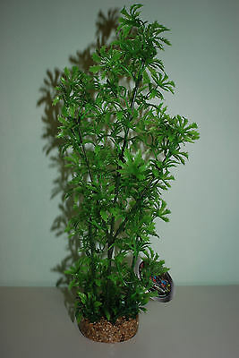 Large Aquarium Green Plant Sandstone Base With Airstone Attached  8.3 x 40 cms