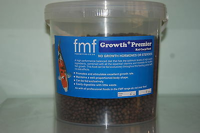 Koi Carp Pond Food FMF Growth Premier + 2kg Bucket 6mm Pellets