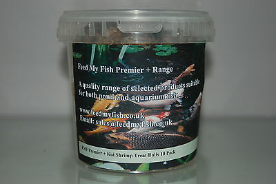 FMF Koi Carp Hand Feeding Mixed Shrimp Treat Balls 12 Balls Per Tub