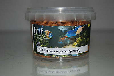 FMF Freeze Dried Krill Superba Suitable For All Fish 280ml Tub Approx 25g